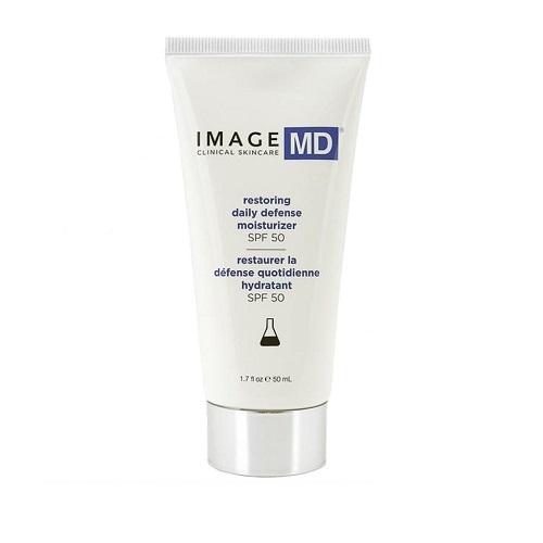 Kem chống nắng Image MD SPF 50 Restoring Daily Defense Moisturizer trẻ hóa da, ngừa lão hóa