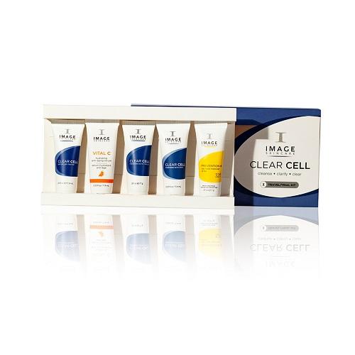 Bộ sản phẩm làm sạch và trị mụn Image Clear Cell