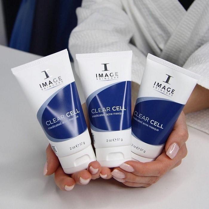 Mặt nạ Image Clear Cell Medicated Acne Masque hỗ trợ trị mụn và kiềm dầu cực đỉnh